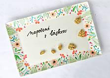 Nádoby - Tácka na koláčiky - kvetinky - 11481875_
