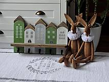 Nábytok - Zelený domčekový vešiak - 11480749_