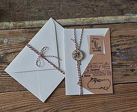 Papiernictvo - Pohľadnica Scrapbooková s gombíkom - 11480660_