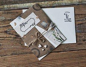 Papiernictvo - Pohľadnica Scrapbooková so srdiečkami - 11480667_