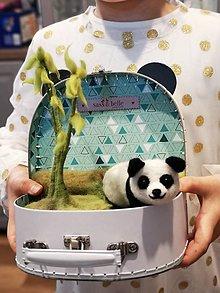 Detské doplnky - Kufrík panda - 11481039_