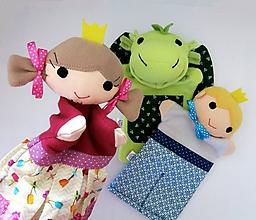 Hračky - Sada maňušiek na ruku (Drak, princezná a princ) - 11481572_