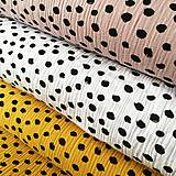 Textil - dvojitý mušelín Machuľky, 100 % bavlna Holandsko,šírka 130 cm - 11479822_
