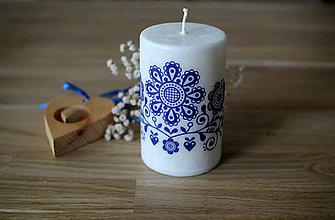 Svietidlá a sviečky - FOLK sviečka z palmového vosku Ø70 - 11480175_