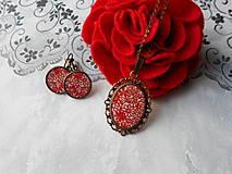 Sady šperkov - Červené kvietky - 11481289_