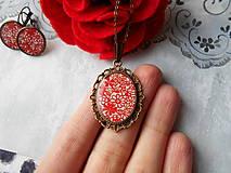 Sady šperkov - Červené kvietky - 11481290_