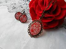 Sady šperkov - Červené kvietky - 11481291_