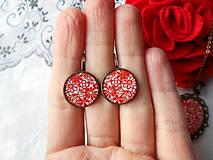 Sady šperkov - Červené kvietky - 11481292_