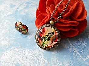 Sady šperkov - Poľný kvietok oranžový - 11481339_