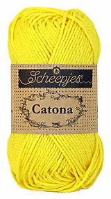 Galantéria - Catona -žltá č. 280 - 50g - 11479725_