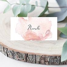Papiernictvo - Svadobné menovky DUSTY PINK - 11481018_