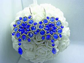 Náušnice - SWAROVSKI náušnice. Modré - 11480532_