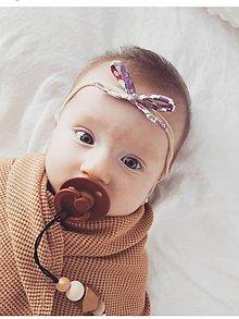 Detské doplnky - Čelenka kvetovaná - 11481535_