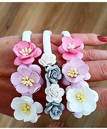 Detské doplnky - čelenka kvety - 11481567_