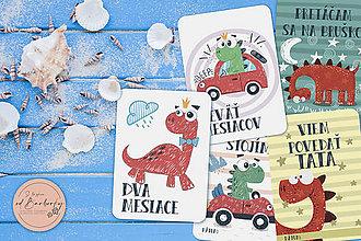 Detské doplnky - Míľnikové kartičky - Chlapčenské #set_2 - 11480821_