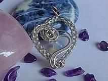 Iné šperky - Strieborný prívesok Ag 925/1000 v tvare srdca - 11479250_