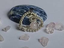 Iné šperky - Strieborný prívesok Ag 925/1000 v tvare srdca s ruženínom. - 11481178_