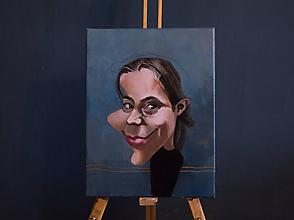 Obrazy - Karikatúra jednej osoby - 11479992_