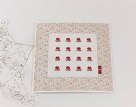 Papiernictvo - Veselé srdiečka II - folk vyšívaný pozdrav - 11481226_