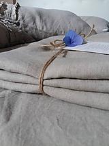Úžitkový textil - Ľanová plachta s gumičkou - 11481743_