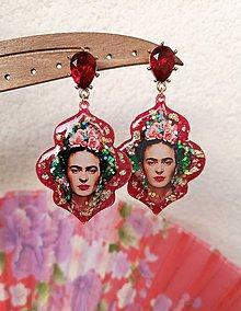 Náušnice - Živicové náušnice Frida - 11480802_