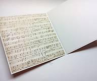 Papiernictvo - Pohľadnica ... noty - 11484952_