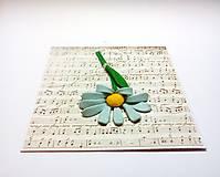 Papiernictvo - Pohľadnica ... noty - 11484959_