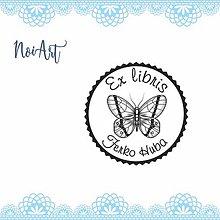 Nezaradené - Pečiatka EX LIBRIS motýľ 2 - 11482652_