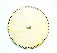Polotovary - Dno na košík, kruh, Ø 25 cm - 11482619_