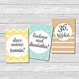 Detské doplnky - Míľnikové kartičky - tehotenské (neutral) UNI - 11482625_