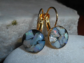 Náušnice - opals in gold-naušnice - 11484746_