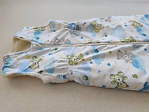 Textil - VLNIENKA Spací vak XXL pre staršie deti 2,5 TOG 100% MERINO na mieru Macko na obláčiku veľkosť 130 cm - 11482643_