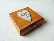 Krabičky - Drevená krabička Vtáčik - 11482751_