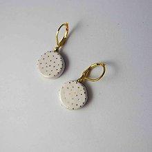 Náušnice - TANA hand made jewellery - keramika/zlato - 11482517_