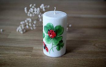 Svietidlá a sviečky - Sviečka pre šťastie - 11484135_