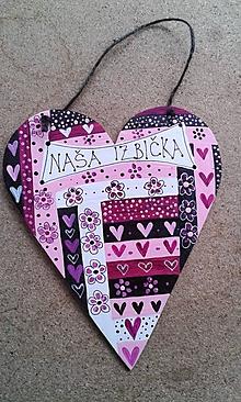Tabuľky - srdce kvietkavé - 11483762_