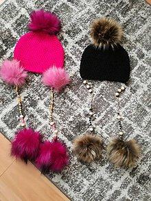 Detské čiapky - Čiapka s koralkami - 11483815_