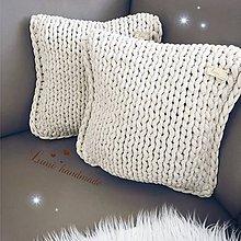 Úžitkový textil - Pletený vankúš - 11483605_