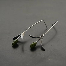 Náušnice - Náušnice olivy - 11485248_