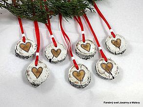 Dekorácie - vianočné ozdoby Srdiečka - 11483257_