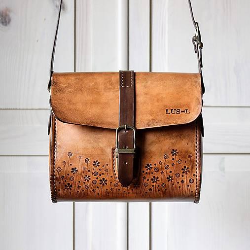 Kabelky - Kožená kabelka Antique leather messenger - 11482764_