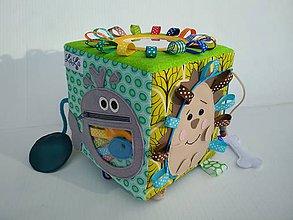 Hračky - Zvieratková quiet cube - didaktická kocka (15x15x15) - 11484839_