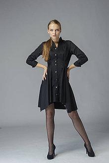 """Košele - Košeľové šaty """"Čierna labuť"""" %ZĽAVA% - 11485115_"""