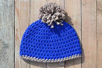 Čiapky - UNI čiapka 2 v 1 modrá - 11482654_