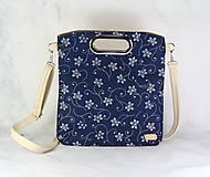 Kabelky - Modrotlačová kabelka Elen krémová 1 - 11482202_