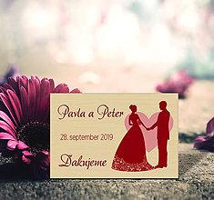Darčeky pre svadobčanov - Svadobná magnetka - 11487427_