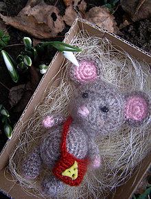 Hračky - myška mini - 11487086_