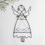 Dekorácie - anjelik s farebnou sukňou - 11486520_