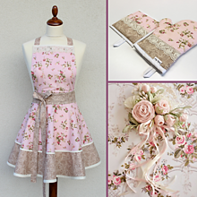Iné oblečenie - zástera Shabby Roses - 11488321_