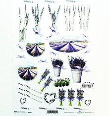 Nezaradené - Ryžový papier na decoupage - A4-R041 - levandula - 11487383_